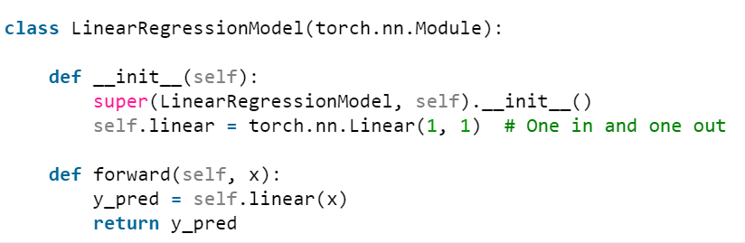 here is linear regression pytorch example