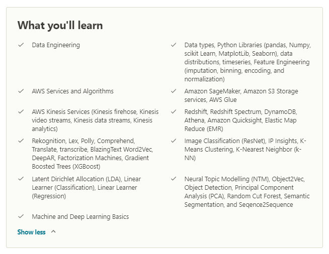 aws data science certification by Superdatascience